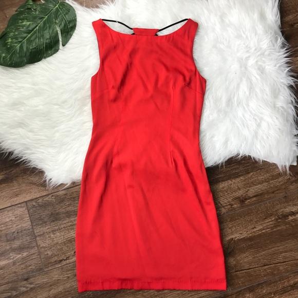 e56a675bb451 Mara Hoffman • Red Open Rays Back Silk Mini Dress.  M_5a934d5f077b9790ab6e25a6
